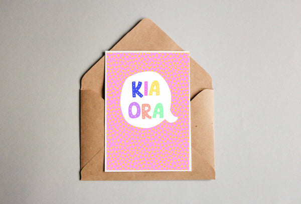 Kia Ora Pink Greeting Cards