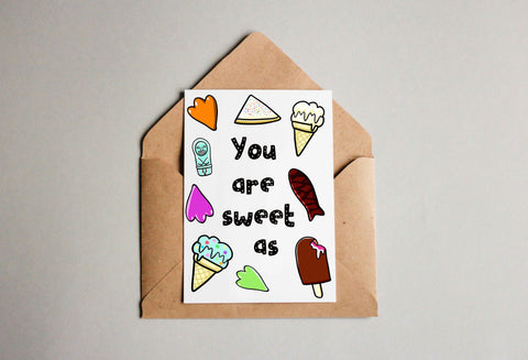 Sweet as Greeting Card