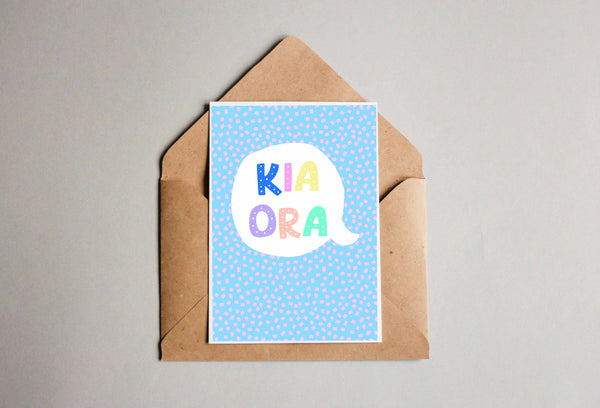 Kia Ora Blue Greeting Cards