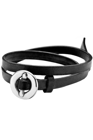 Bracelet Black Leather from Clan of DK