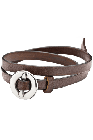 Bracelet Brown Leather from Clan of DK