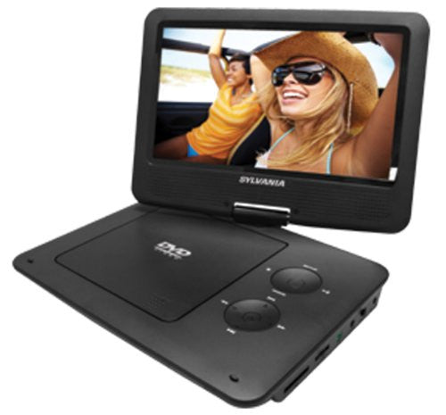 Electronics-Sylvania 9-Inch Swivel Screen Portable DVD/CD/MP3 Player with 5 Hour Built-In Rechargeable Battery in Pink