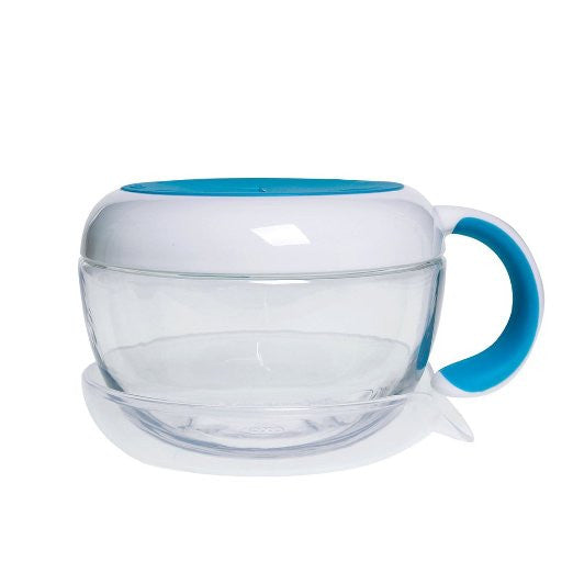 Food Bowl-OXO Tot Flippy Snack Cup with Travel Lid - Aqua