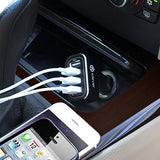 Electronics-4-Port USB Port Car Charger, Multi-Port Power Adapter