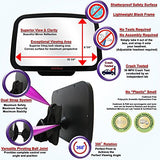 Car Safety Mirror-Back Seat Mirror with Wide Convex Shatterproof Glass