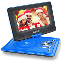"Electronics-12.5"" Portable DVD Player with 360° Swivel Screen, 5 Hour Rechargeable Battery"