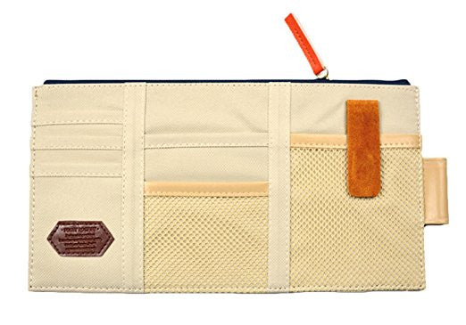 Organizer-Canvas Multi-Function Sun Visor Organizer in Beige