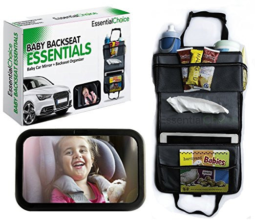 Baby Car Mirror & Backseat Car Organizer Bundle