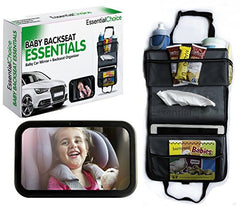 Organizer-Baby Car Mirror & Backseat Car Organizer Bundle