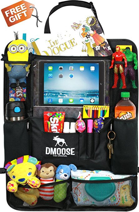 Car Backseat Organizer with Tablet Holder for Kids and Toddlers