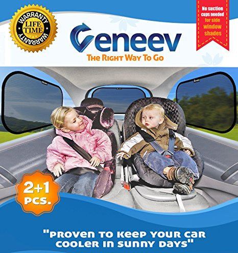 Car Sun Shade for Side and Rear Window, 3-Pack