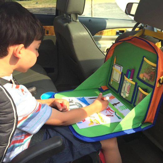Organizer-Fold-up Car Backseat Play and Drawing Station