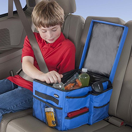 Kids Car Back Seat Organizer With Cooler For Middle Seat