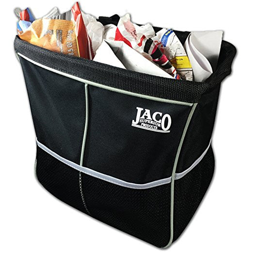 Car Trash Can Organizer with Leakproof Litter Bag for Garbage - Heavy Duty