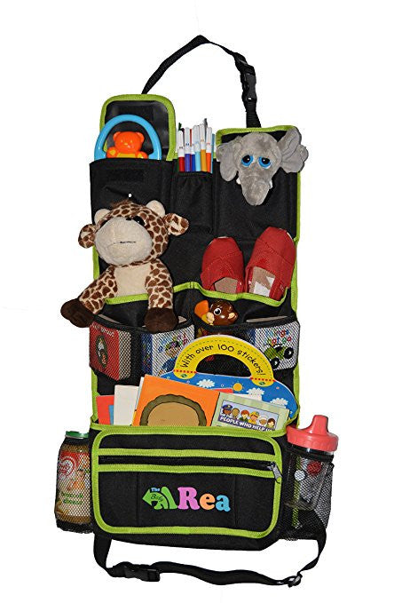 Backseat Organizer with Kick Mat and Detachable Pocket