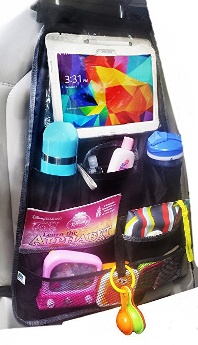Durable Backseat Organizer with iPad and Tablet Holder up to 10.1""