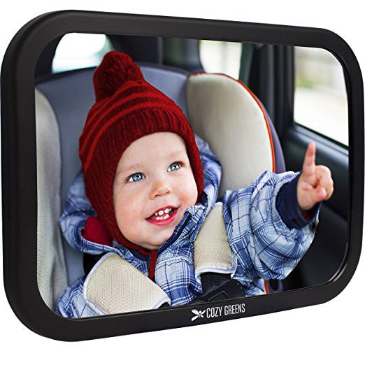 Safety Certified /& Crash Tested Shatterproof Car Back Seat Mirror for Newborn Baby Infants Kids Children Toddlers Girls - Baby Car Mirror Crystal Clear Rear Facing Baby Mirror Pink Heart
