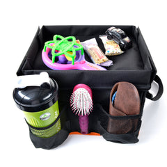 Backseat Car Organizer for Kids with Play Tray and Cup Holders