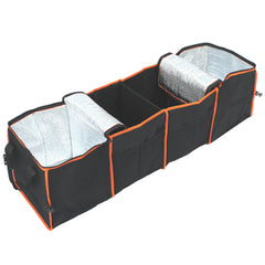 Collapsible 4-Compartment Car Trunk Organizer with Coolers
