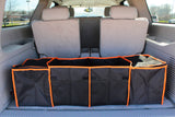 Organizer-Collapsible 4-Compartment Car Trunk Organizer with Coolers