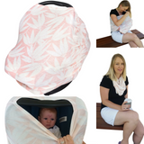 Carseat Canopy-Stretchy Baby Car Seat Cover Canopy and Nursing Cover (Multiple Colors)