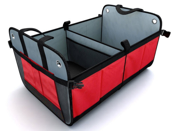 Trunk Cargo Organizer by Tidy Globe (Red). Best for SUV, Vans, Cars, Trucks.