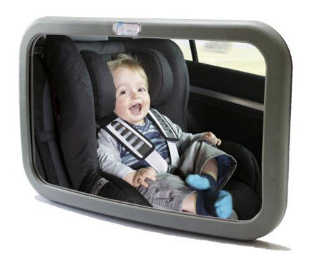 Rear View Baby Mirror - Adjustable, Convex and Shatterproof Glass