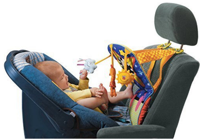 Travel Games-Baby Car Toy - Kick and Play Musical Travel Activity Center for Rear Facing Infant