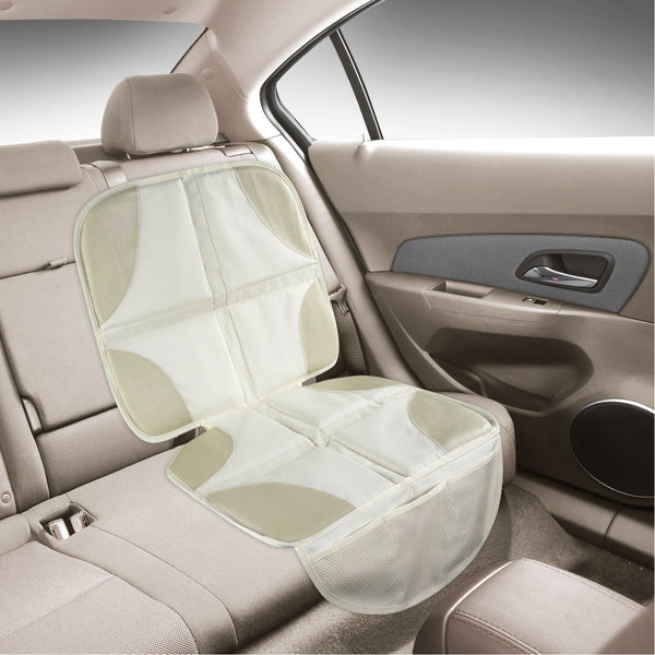 Beige Luxury Seat Protector Mat To Use Under Your Child S