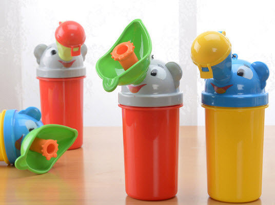 Portable Kids Travel Emergency Urinal Bottle - Boy & Girl