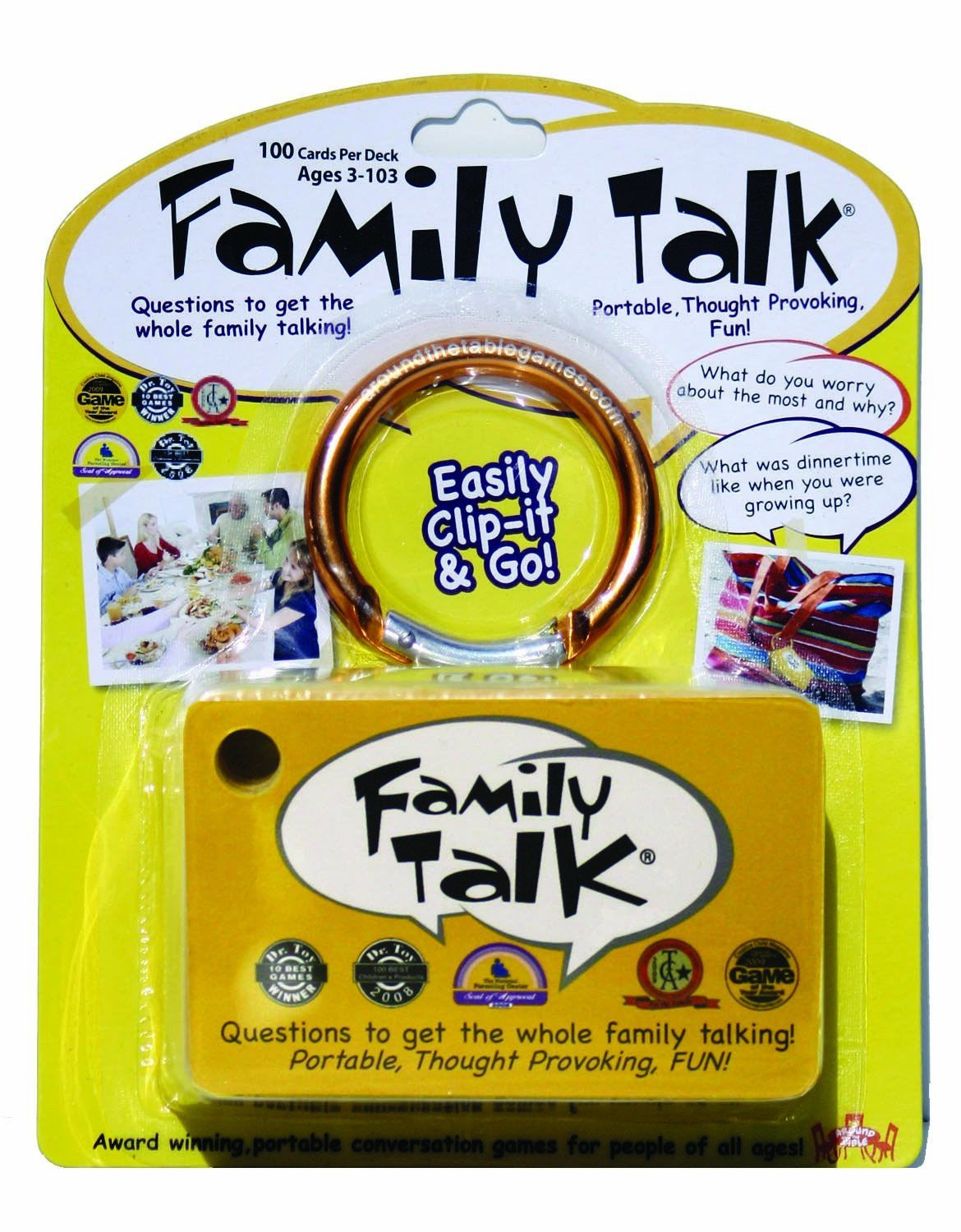 Travel Games-Family Talk - Question Cards to get the Family Talking
