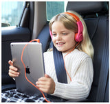Electronics-Volume Limited On-Ear Headphones for Kids - (Pink/Orange or Blue/Green)