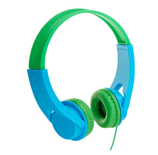 Volume Limited On-Ear Headphones for Kids - (Pink/Orange or Blue/Green)