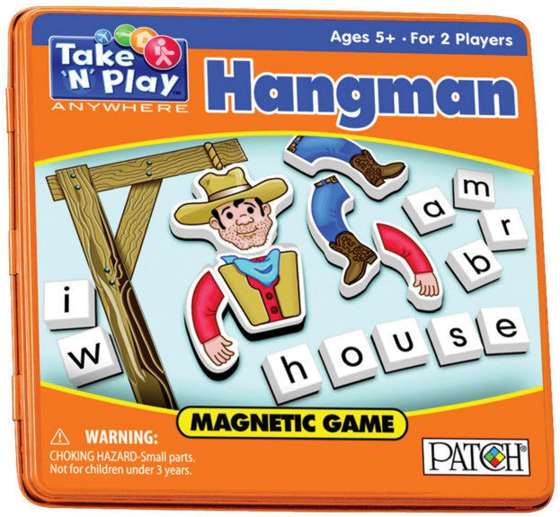 Travel Games-Travel Magnetic Hangman Game
