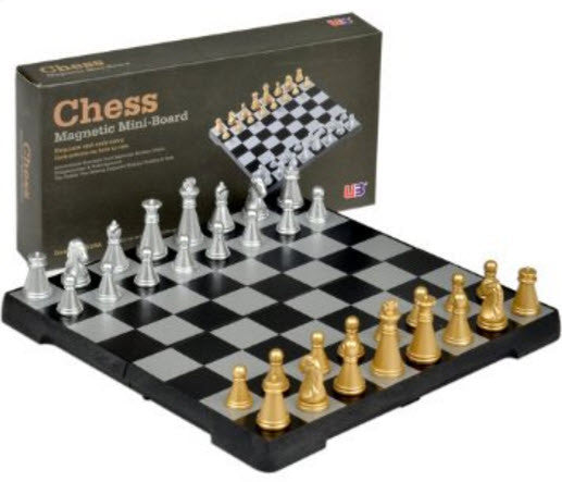 Travel Games-Travel Magnetic Mini Chess Set