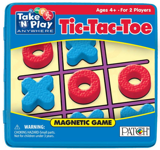 Magnetic Tic-Tac-Toe Travel Game