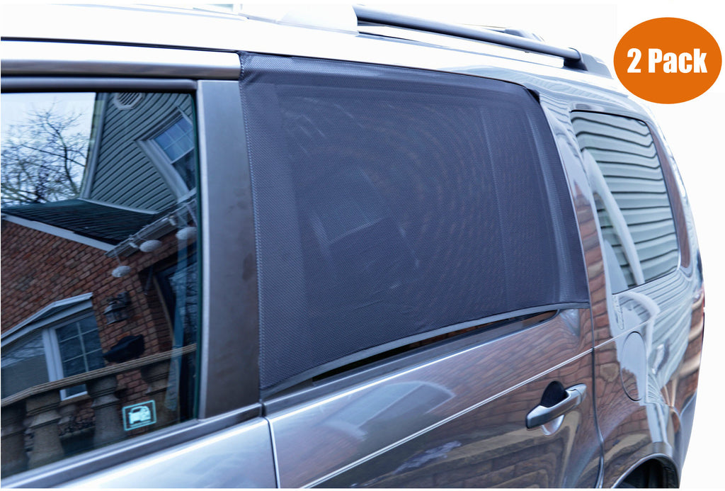Car Sunshade Window Socks/Sox - Pack of 2 (Large Universal Size) for Rear Side Door.