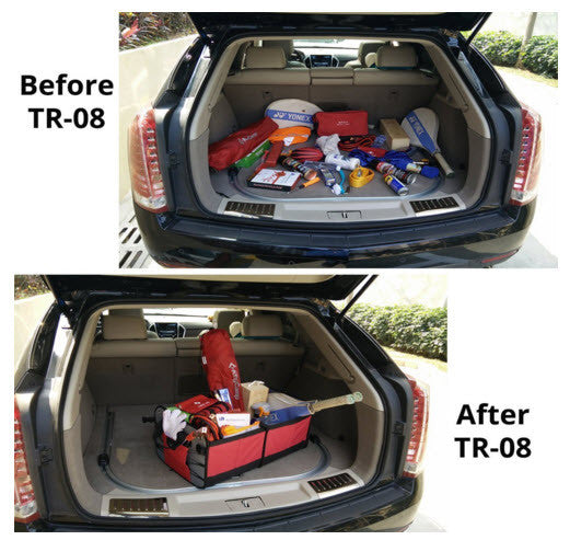 Suv Cargo Organizer >> Trunk Cargo Organizer By Tidy Globe Red Best For Suv Vans Cars Trucks