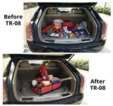 Organizer-Trunk Cargo Organizer by Tidy Globe (Red). Best for SUV, Vans, Cars, Trucks.