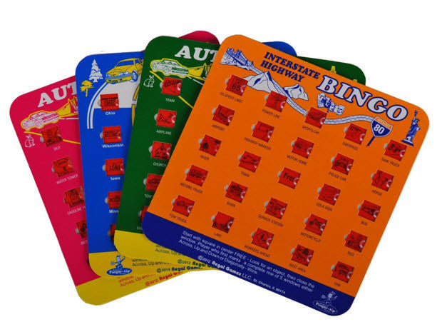 Travel Bingo - Set of 4 Bingo Boards