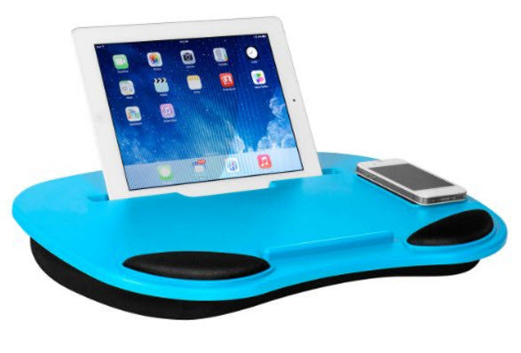 Media Travel Lap Desk for Notebook, Tablets and Phones - Multiple Colors