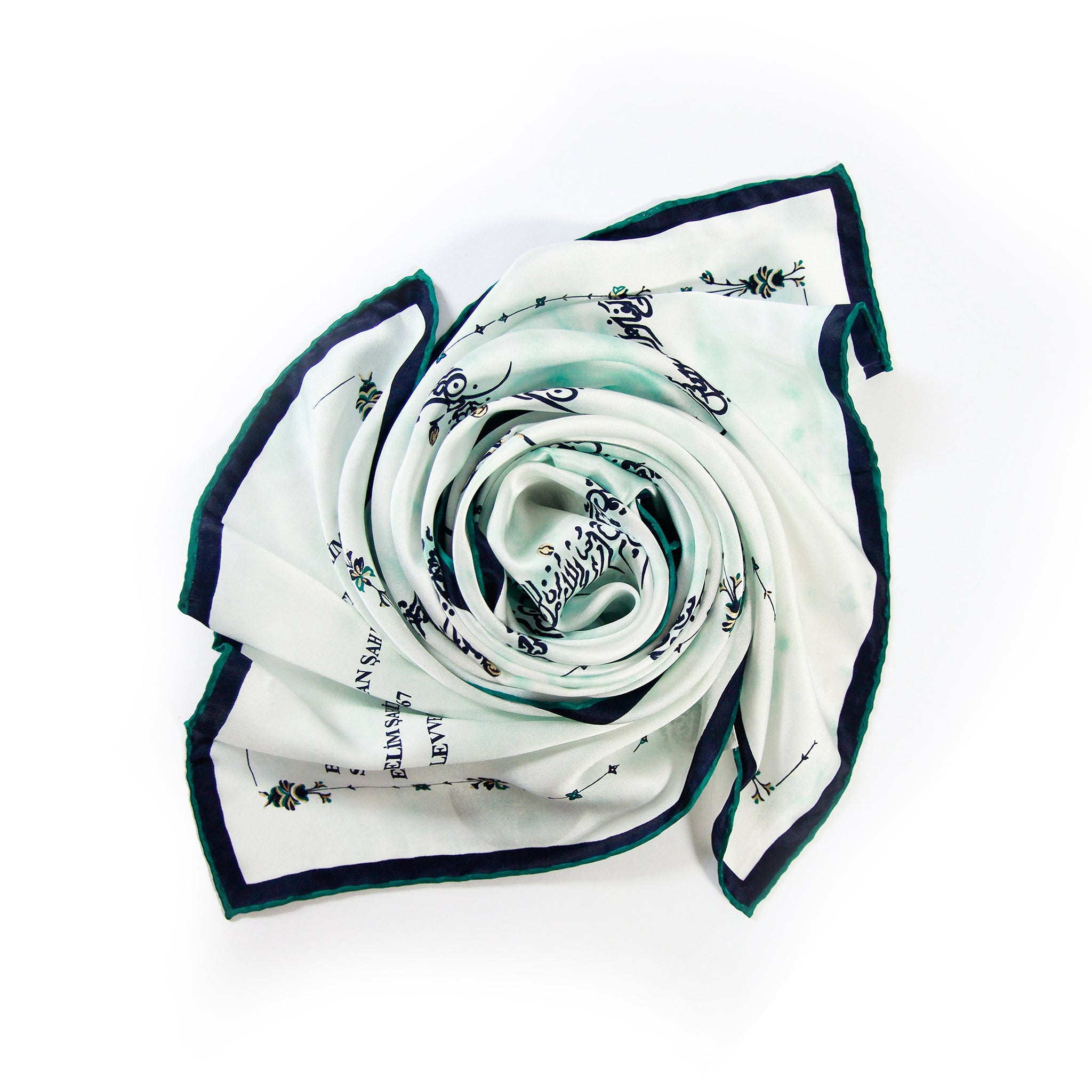 Calligraphy Silk Scarf