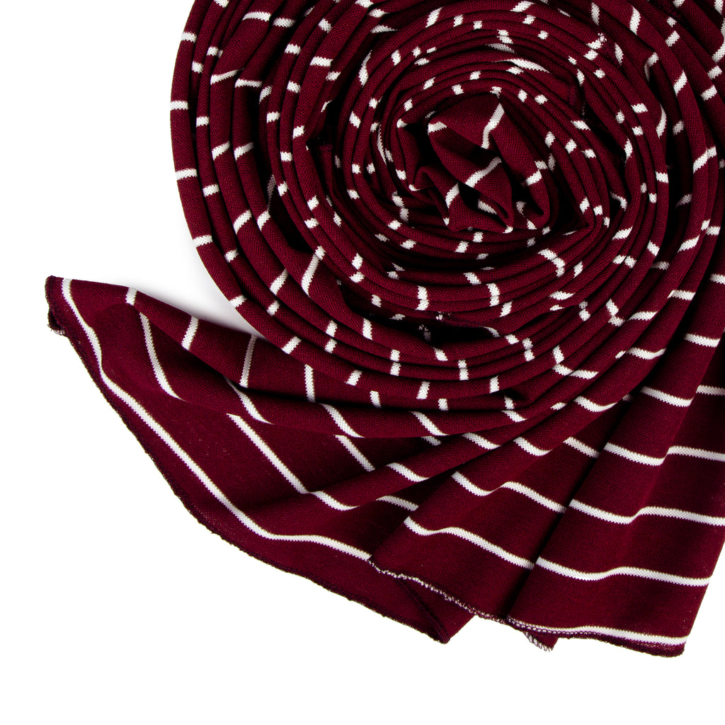 Line Cotton Scarf
