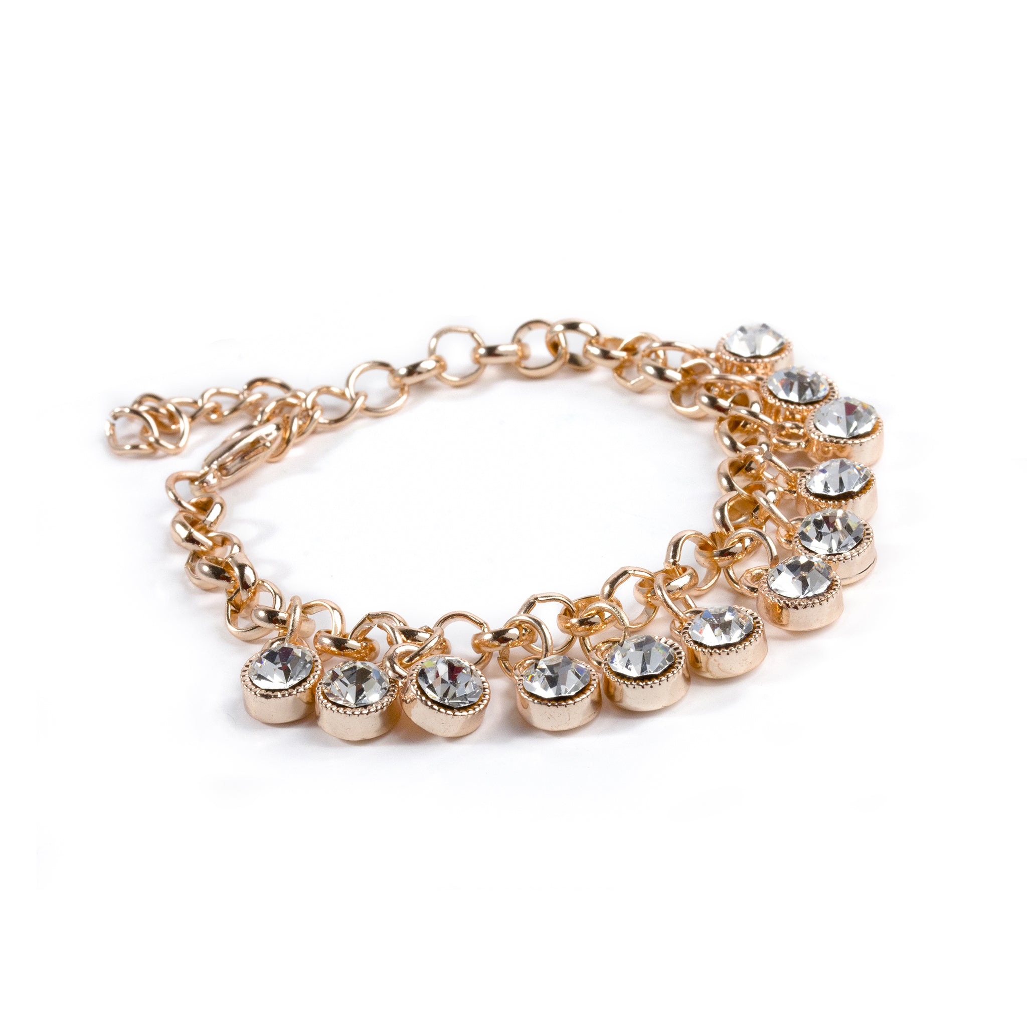 Chain Bracelet with Dangling Zircon