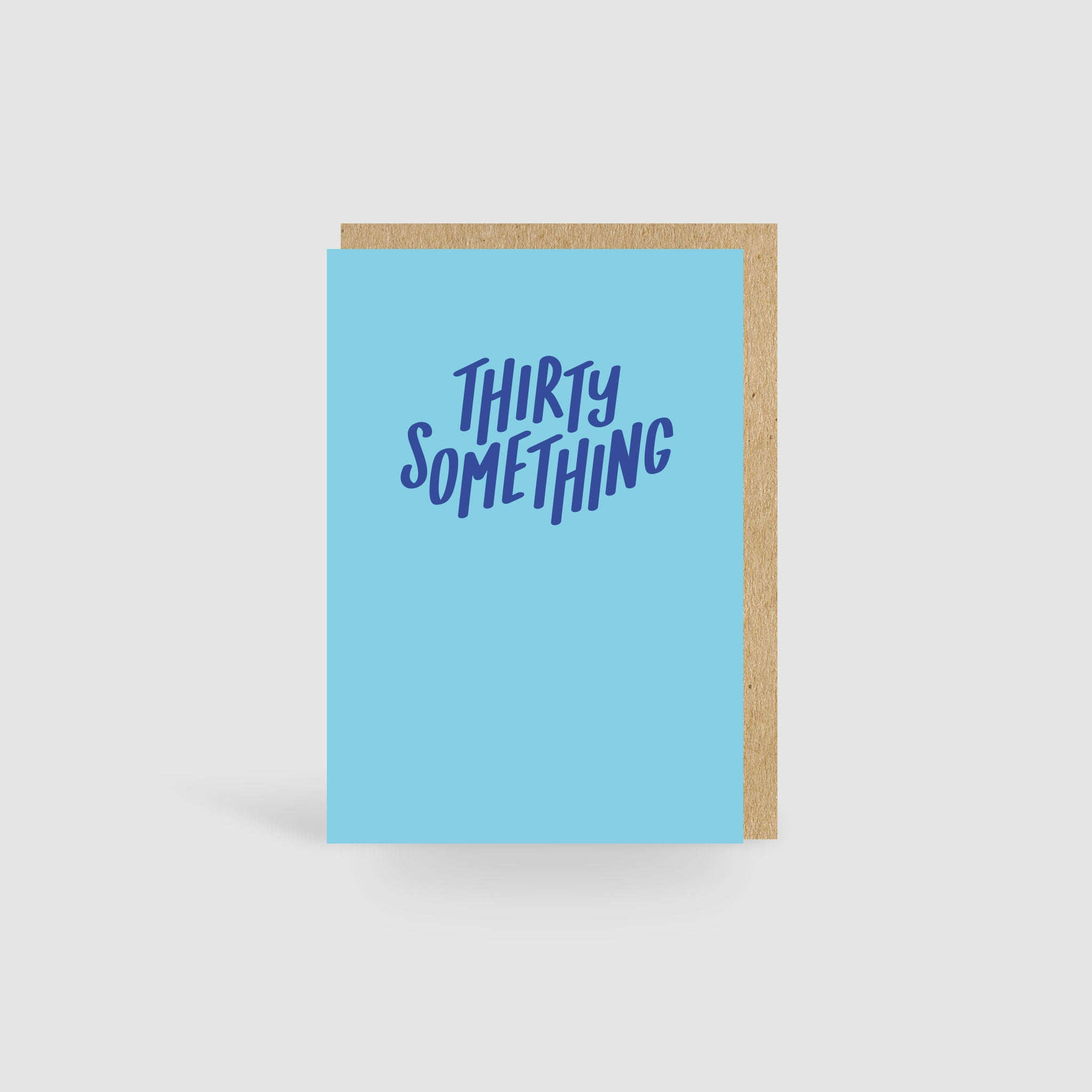 Thirty Something Blue Birthday Card