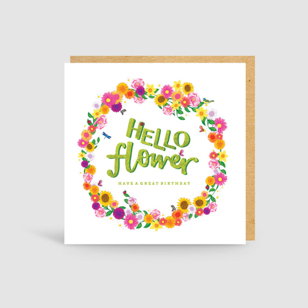 Hello Flower! Birthday Card