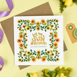 Let the Sun Shine Birthday Card
