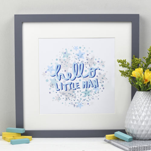 Hello Little Man - Baby Print