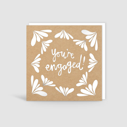 You're Engaged! Silver Foil Card