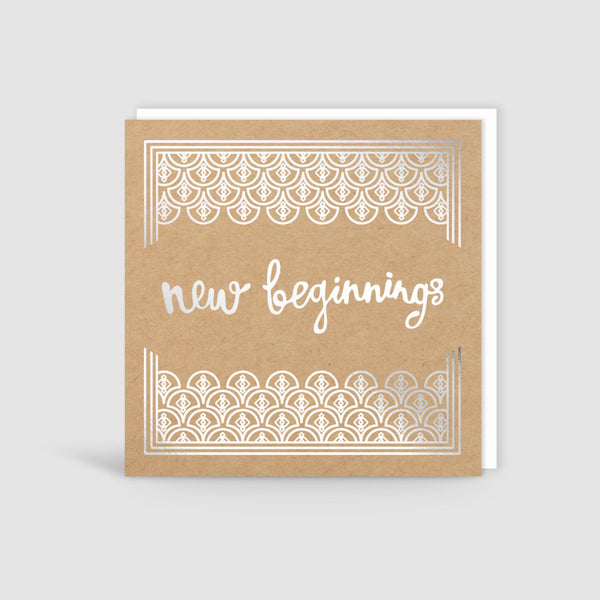 New Beginnings Silver Foil Card
